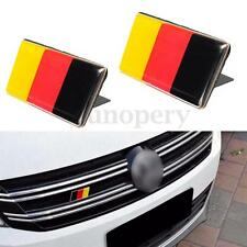 2Pcs Car German Flag Emblem Badge Sticker Decal For Benz VW Golf Jetta Scirocco