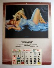 1953 Pin Up Picture Calendar Playmates by Pearl Frush Grocery Ad Avondale AZ