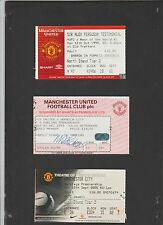 Match ticket for Sir ALEX FERGUSON TESTIMONIAL Manchester United vs ROW