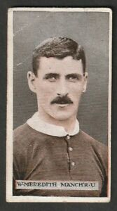 W D & H O Wills Scissors issue 1914 FOOTBALL Manchester United William Meredith
