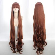 Hot Japan Anime ZONE-00 (Tsuchigumo)Long Curly brown Cosplay Wig 120cm