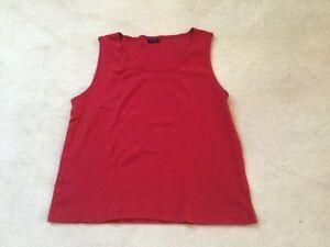 Top von Red-Green, rot, Baumwolle, Gr. L