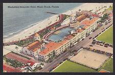 Florida-Miami Beach-Macfadden-Deauville Hotel-Aerial View-Vintage Linen Postcard