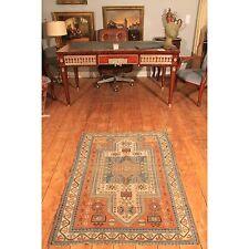 Antico mano intessuti ORIENT DA COLLEZIONE TAPPETO Shirvan KASAK Old Rug Carpet 110x135cm