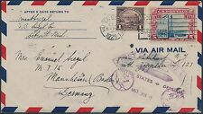 #571, #C11 ON 1ST ZEPPELIN FLIGHT COVER USA TO GERMANY OCT 28,1928 BS192