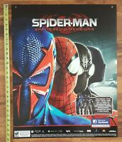 Spider-Man Shattered Dimensions 2010 Video Game Store Display Promo Sign 28x22