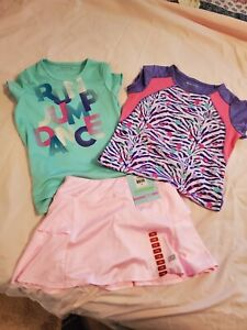Set of Girls Skechers Outfits- 2 Tops & Skort (Skort is new with tags)