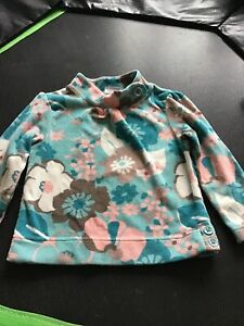 Next Aqua Blue Fleece Jumper Top Aged 2-3 Yrs