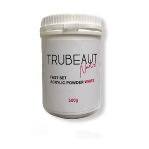 TRUBEAUT Nails FAST SET WHITE Acrylic Powder 500g BULK BUY