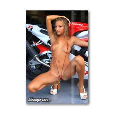 Z • 106 Fridge Magnet Beautiful Snap-On Girl Katya Clover Yamaha R1 Mini Bikini