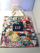 GAP Tote Bag Graphic Front Logo Cotton Muslin Back Shopping Bag New