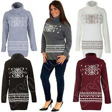 Unbranded Women's Polo Neck Long Jumpers & Cardigans
