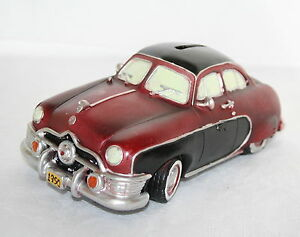 20cm VINTAGE CAR MONEY BOX - CLASSIC 1950 VEHICLE - SAVING BANK GIFT - CAR MODEL