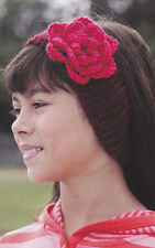 Crochet Pattern ~ GIRLS ROSEY HEADBAND ~ Instructions
