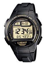 Casio W-734-9A Orologio Uomo Batteria 10 anni, Contapassi, Crono, Memoria Lap