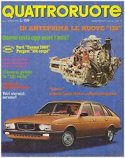 QUATTRORUOTE 4/1976 FORD TAUNUS 2000 GHIA – PEUGEOT 104 ZS - CARRO LEOPARD
