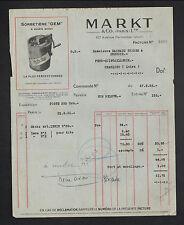 """PARIS (XI°) USINE de SORBETIERE GEM """"MARKT & Co"""" en 1936"""