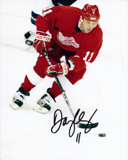 DAN CLEARY Signed DETROIT RED WINGS 8X10 Photo w/COA