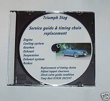 Triumph Stag Chain replacement & Service guide on 1 DVD.