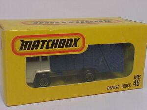 MATCHBOX SUPERFAST Japón Edición MB48 Camión Basura Nuevo en Caja