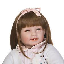 """22"""" Bambole bambola Reborn vivente dei capelli lunghi del vinile bambini regalo"""