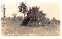 Native Americana~Bushy Run PA~Prehistoric Indian Stockade Hut~1940s RPPC
