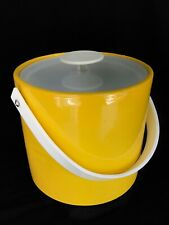 Vintage Georges Briard Signed Yellow Acrylic & Vinyl Ice Bucket, Mcm Retro, Nr!