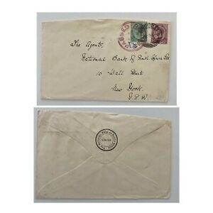 1900s Censored (Boer War?) Kimberly National Bank of South Africa to New York US