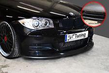 SPOILER spada FRONT SPOILER ABS per BMW 1er e82 e88 M-pacchetto ABE NERO LUCIDO