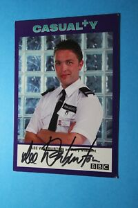 Lee Warburton (Casualty) Signed Cast Card