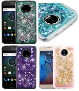 For Motorola Moto G6 - Floating Waterfall Liquid Glitters TPU Rubber Case Cover
