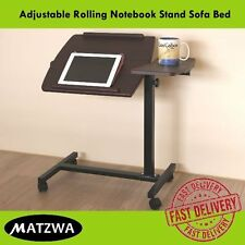 Laptop Folding Table Rolling Notebook Stand Sofa Bed Adjustable (Free shipping)
