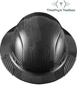 Lift Safety HDC-15KG Dax Carbon Fiber Full Brim Hard Hat- Black w/ Suspension