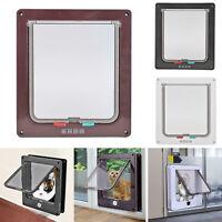 Pet door 4 way Lockable Small Medium Large Pet Cat Dog Flap Magnetic Door Frame