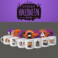 BTS BT21 Official Authentic Goods Mug + Coaster SET Halloween Ver 9fl.oz