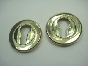 1 Paar geschraubte Zylinderrosetten, Messing