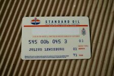 Vintage 70s STANDARD OIL CREDIT CARD - Division American Oil Company gas/station
