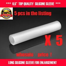 5 PCS 6'' SILICONE SLEEVES FOR EXTENDER CLAMPING STRETCHER HANGER PUMP JELQING