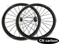 R13+ Aero 424 blade spokes 50mm Clincher carbon bike wheels Alloy brake surface