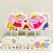 5pcs peppa pig Cake candles Kids Birthday Party Supplies.