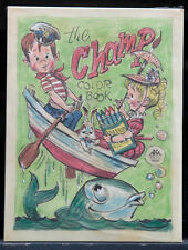"PETER HAWLEY 1950's Original Cover Sketch - ""The Champ Color Book"" (A163)"