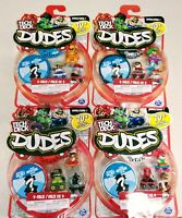 Lot of 4 Tech Deck Dudes 4-Pack Collectible Skater Figures with Boards