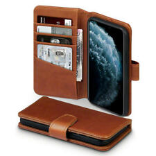 Quality Real Leather Wallet Case for iPhone 11 Pro - Cognac