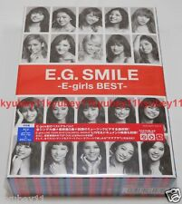 New E.G. SMILE E-girls BEST First Limited Edition 2 CD 3 Blu-ray Photobook Japan