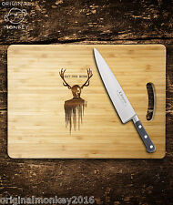 HANNIBAL SERIES CHOPPING BOARD GIFT FOR HIM. BIRTHDAY GIFT FATHERS DAY GIFT