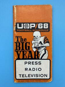 PACIFIC TIGERS COLLEGE FOOTBALL MEDIA GUIDE - 1968 - BOB ADAMS  RUDY REDMOND