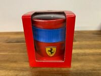 Scuderia Ferrari Formula 1 Red Coffee Mug With Blue Rubber Grip.