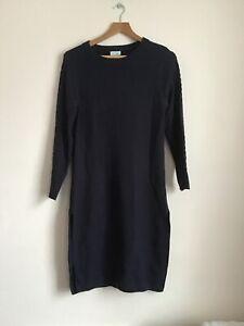 Womens Midi Navy Jumper Dress Size Small