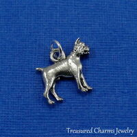 Silver BOXER DOG CHARM Puppy English Bulldog PENDANT *NEW*