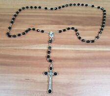 Sehr alter großer Rosenkranz Metall mit Perlenkette Wunderschön und selten TOP!